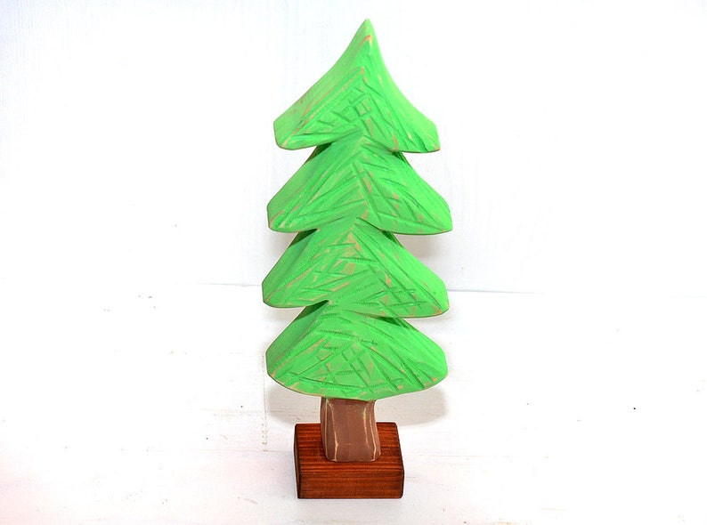 Wood Christmas Tree Wooden Holiday Decor Wood Tabletop Decoration Wooden Christmas Tree Winter Nursery Decor Wooden Room Decoration