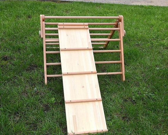 Kletter Dreieck Baby : Holz rampe doppelseitige klettern für pikler etsy