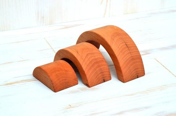 Kletterdreieck Waldorf : Holz regenbogen stapler holzspielzeug stapeln etsy