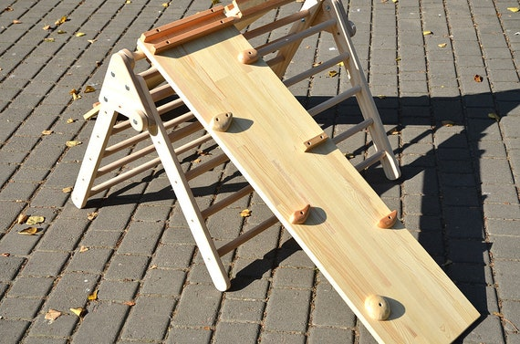 Klettergerüst Dreieck : Pikler rampe holz dreieck und doppelseitige klettern etsy