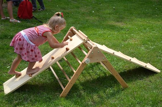 Kleinkind Klettert Dreieck : Pikler zwei rampen holz dreieck mit etsy