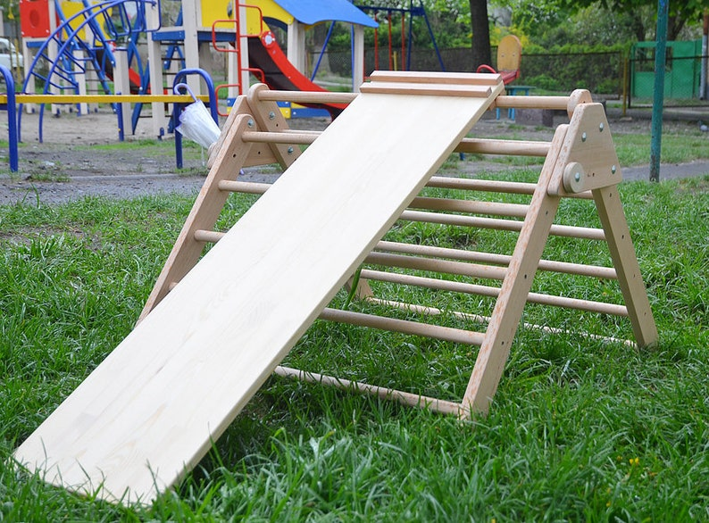 Klettergerüst Baby Holz : Pikler rampe holz dreieck und doppelseitige klettern etsy