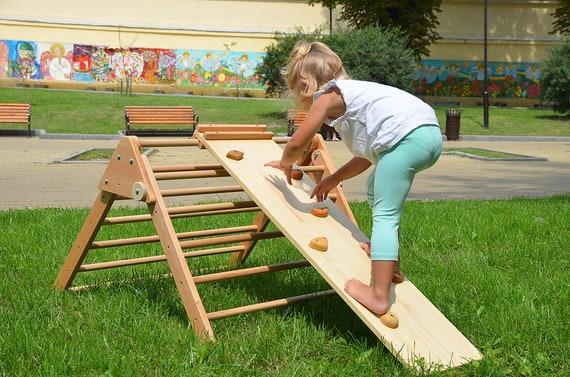 Klettergerüst Baby Holz : Rampe holz double sided felswand für pikler dreieck etsy