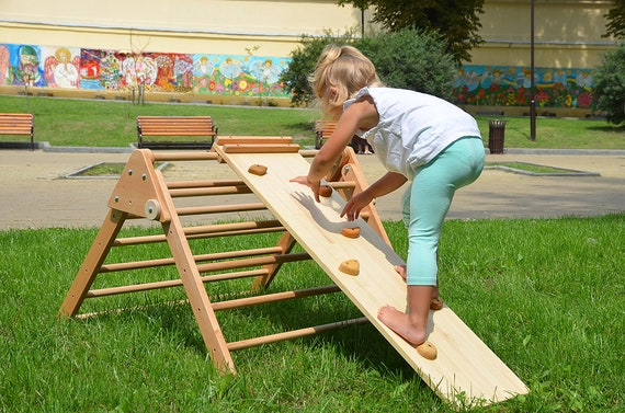 Kleinkind Klettert Dreieck : Pikler rampe baby dreieck doppelseitige klettern etsy