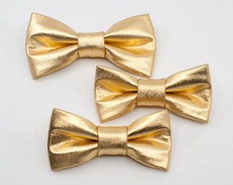 a7b22a169fe9 Gold bow tie, Shiny Bow tie, Metallic gold gift