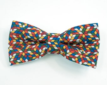 366a51003717 Bow tie for man, Bow tie nerd, Mosaic tie, Rubik gift