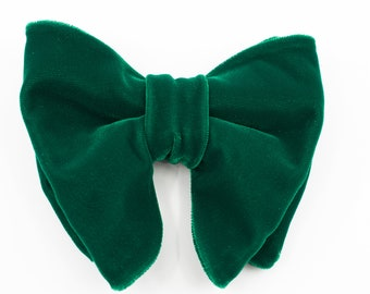 0e14df94e814 SALE GIFT Free shipping Dark Green Velvet Men Bow Tie Big Bow tie Oversized Bow  tie Large bow tie Butterfly bowtie Groom bowtie Tom Ford