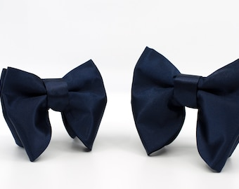 a00503cd03c3 Father & Son Gift, Big bow ties Set, Navy blue bow ties
