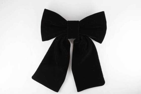 grandes variétés acheter réel regard détaillé Noir gros noeud papillon, noeud papillon noir, cadeau pour les femmes