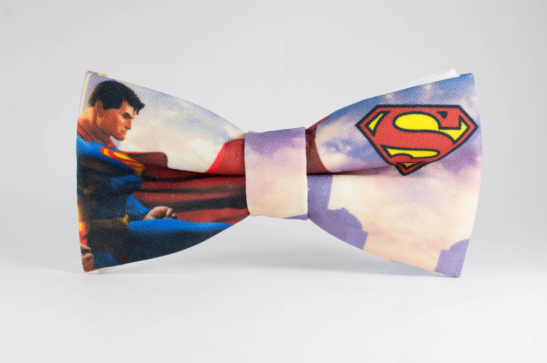 Superman Bow Tie Mens bow ties Super hero Bow tie Hero