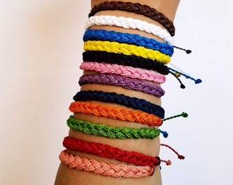 Braid Friendship Waterproof Bracelet/ Adjustable Bracelet/ Layering Bracelets/ Summer fashion jewelry