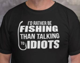 Funny Fishing Shirt - Rather Be Fishing - Fishing Shirt - Fishing Tee - Mens Shirt - Dad T-shirt- Dad Tshirt - Gift for Dad - Mens Gift
