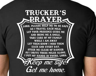 a68aebba Truckers Prayer Tshirt - Truck Driver Shirt - Fathers Day Gift for Truck  Driver, Truck Drivers Wife - Gifts For Dad