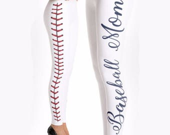272eb0b92e2 Baseball Mom Leggings  Gift for Mom