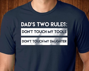 4a93bfff Dad With Daughters Shirt - Dad Rules Tshirt - Funny Shirt For New Dads