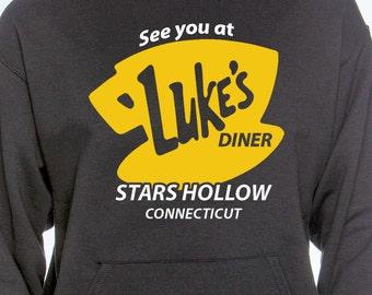 Dîner Hoodie - Gilmore filles Gilmore Apparel - Sweat à capuche-Lukes Diner Sweat à capuche Diner - Gilmore filles Hoodie - Gilmore Girls - Luc Luc