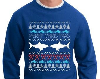 Ugly Sweater - Shark Jaws Ugly Sweater - Christmas Ugly Sweater - Christmas Sweatshirt