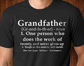 Grandfather Shirt - New Grandpa shirt - New Grandfather - Gift for a New Grandfather - Funny Gift for Grandpa