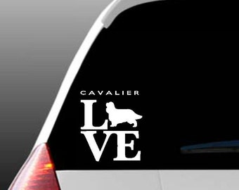 Cavalier Love Car Window Decal