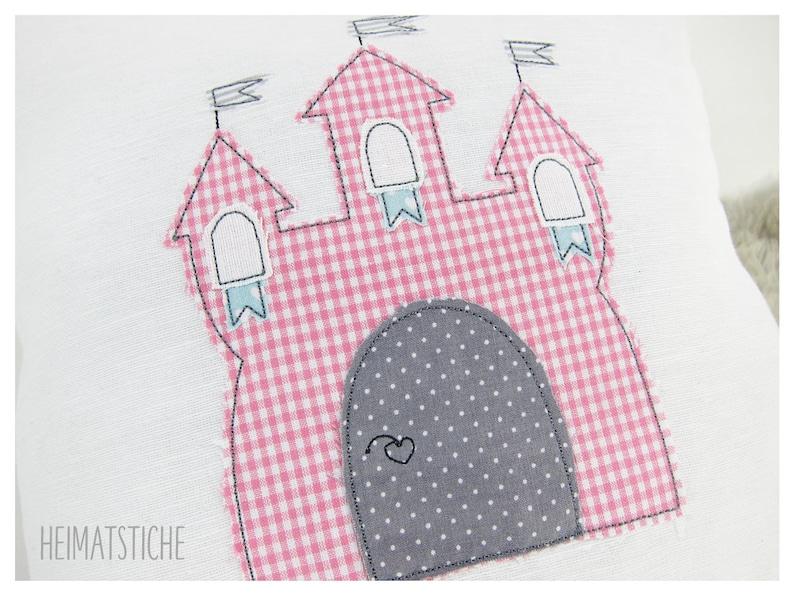 Embroidery file 16x26 Castle Application Doodle