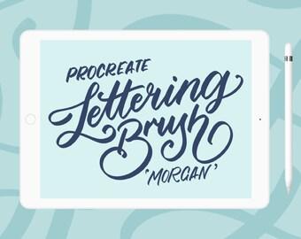 Morgan - iPad lettering brush for Procreate | iPad Pro | Typography | Calligraphy