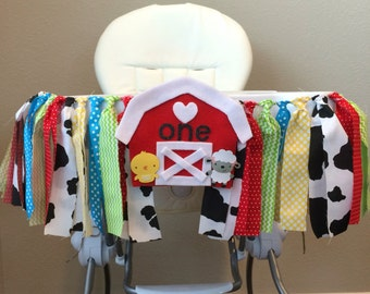 Farm High Chair Banner