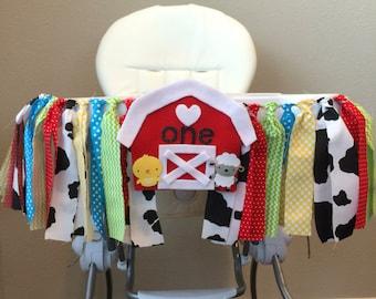 Farm High Chair Banner