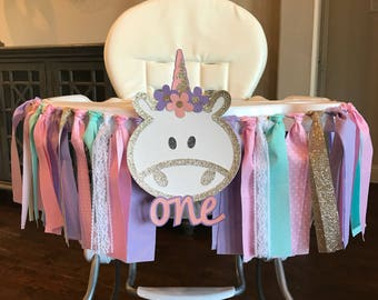 Unicorn High Chair Banner