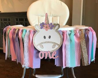 Unicorn High Chair Banner