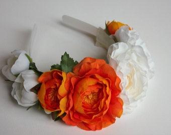 Headband, Flower Headband, Wedding Headband, Bridal headband, bridesmaids headband, flower girl headband