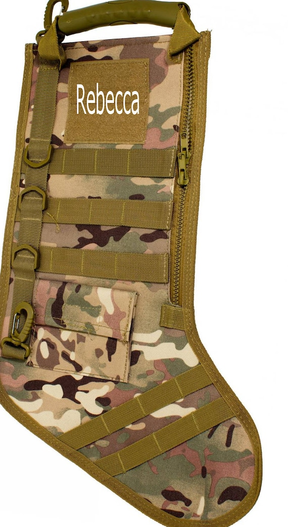 Tactical Christmas Stocking.Christmas Stocking July Tactical Personalized Stocking Camo