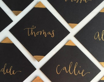 Square Place Cards Escort Cards Classy