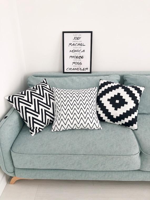 Superb Set Of Geometrical Print Pillow Cushions Throw Pillow Cover With Black White Print Scandinavian Decor Dailytribune Chair Design For Home Dailytribuneorg