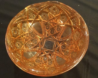 Imperial Marigold Carnival Glass Bowl