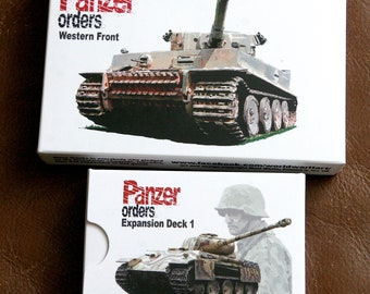 Panzer Orders Western Front PLUS Expansion 1 - Card Wargame