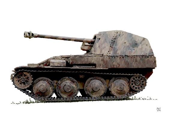 Marder Tank Destroyer World War 2 Fine Art Print