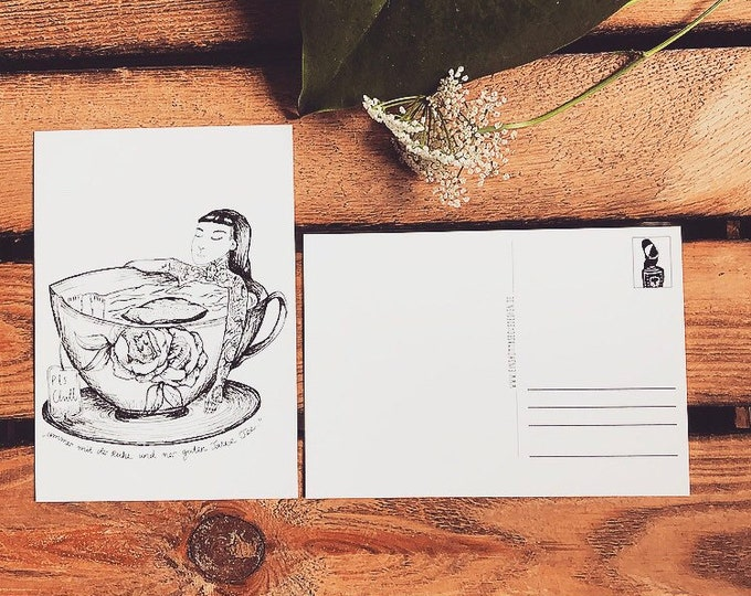 "Postcard ""Cup of Tea"""