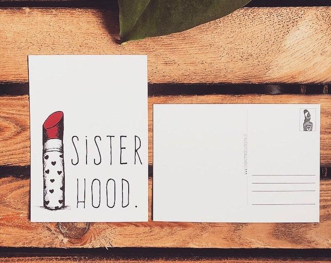 """Postcard """"Sisterhood"""""""