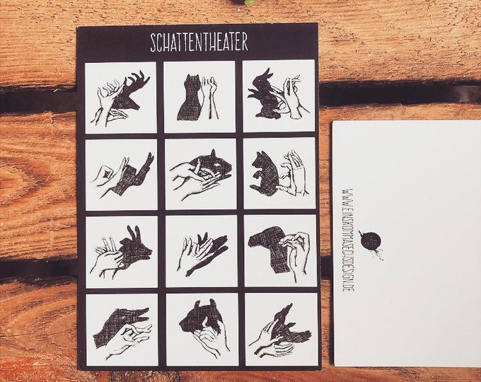 "SALE***Postcard ""Shadow Theatre"""