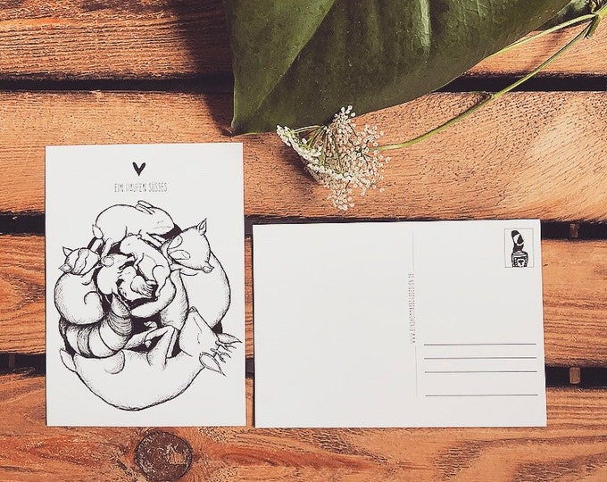 "Postcard ""A bunch of sweet"""