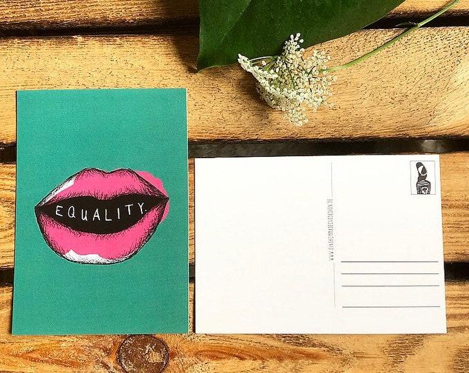 """Postcard """"Equality"""""""