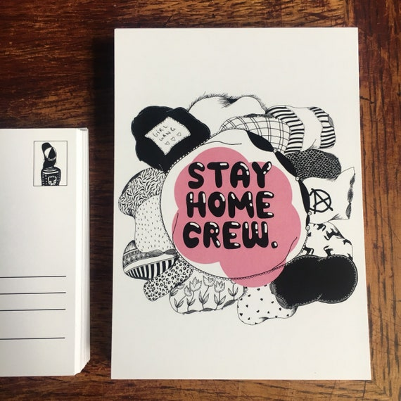 "Postcard ""Stay Home Crew"""