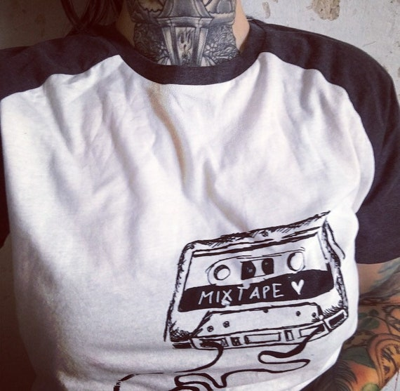 "Organic cotton t-shirt ""mixtape"""