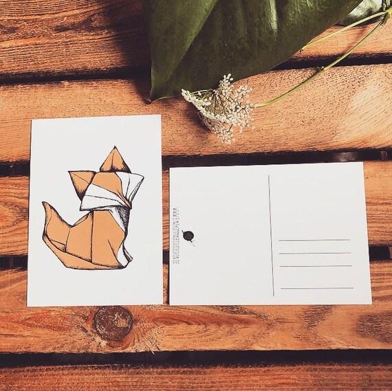 "Postcard ""origamifuchs"""