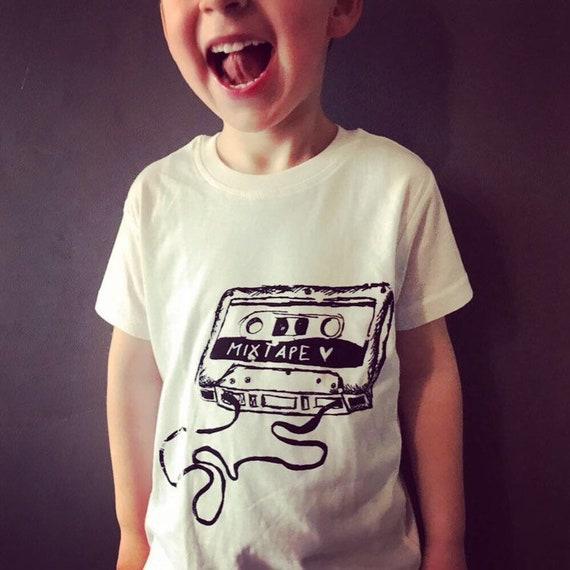 "SALE*****KIDS Organic Cotton T-Shirt ""Mixtape"""