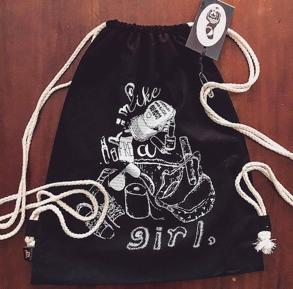 "Bio Cotton Turn Bag ""bike like a Girl"""