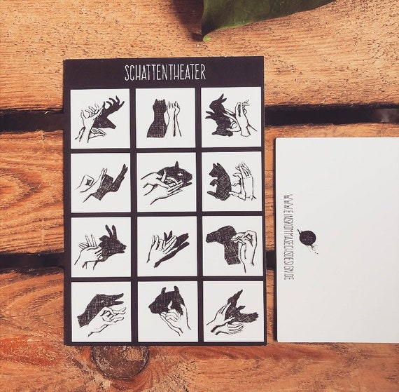 "Postcard ""Shadow Theatre"""