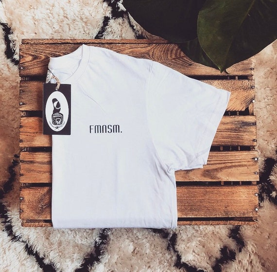 "Hand-printed Fairtrade T-Shirt ""FMNSM"""