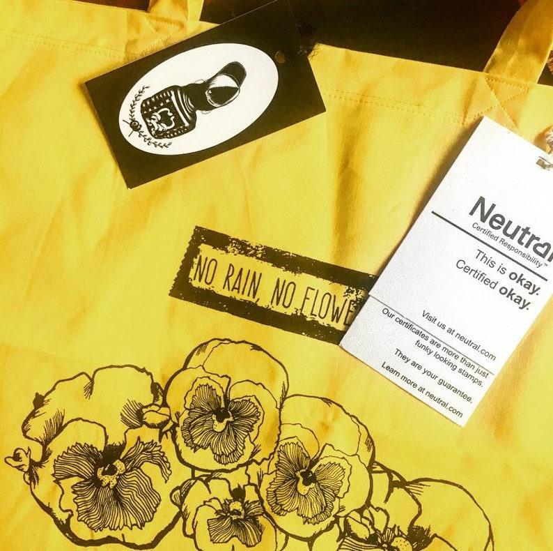 L E S A * * * Organic cotton bag No rain no flowers