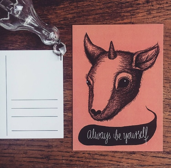 "Postcard ""Always Be Yourself"""